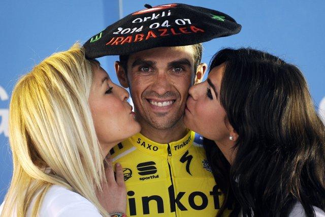 Alberto Contador... (Photo Rafa Rivas, AFP)