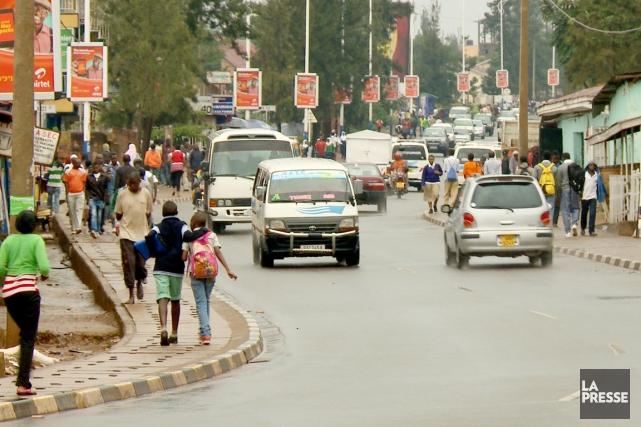 Le centre-ville de Kigali, le 26 mars.... (PHOTO MARTIN LEBLANC, LA PRESSE)