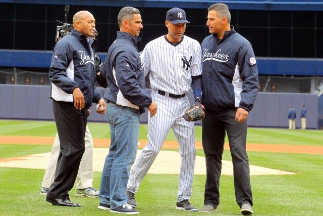 Mariano Rivera, Jorge Posada, Derek Jeter et Andy... (Photo Brad Penner, USA Today)