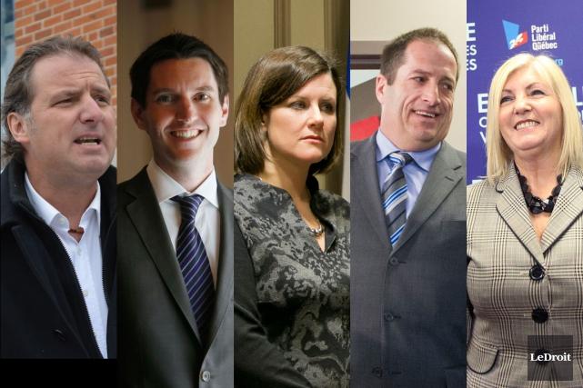 Les cinq candidats libéraux dans la région. De... (Archives, LeDroit)