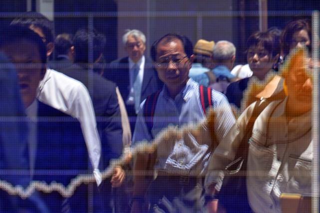 La croissance du Japon s'est accélérée à 1,5% entre janvier et mars, dopée par... (PHOTO YOSHIKAZU TSUNO, ARCHIVES AFP)