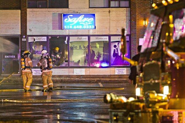 Les dommages causés au Salon Safire ne sont... (PHOTO FÉLIX O.J. FOURNIER, COLLABORATION SPÉCIALE)