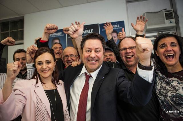 Le libéral Pierre Michel Auger l'a emporté dans... (Photo Oli Croteau, Le Nouvelliste)