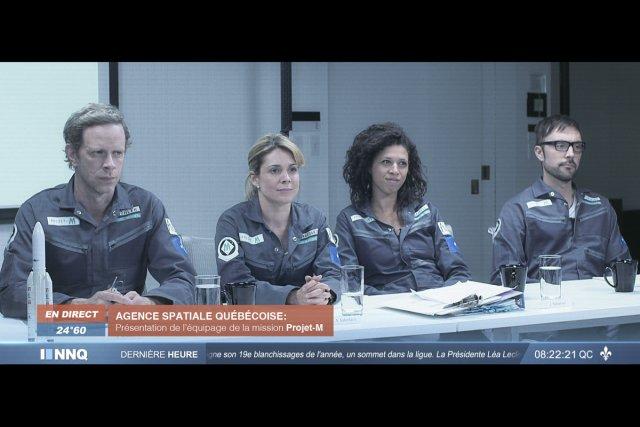 Projet-M envoie quatre astronautes québécois en orbite autour... (Photo: fournie par Babel Productions)