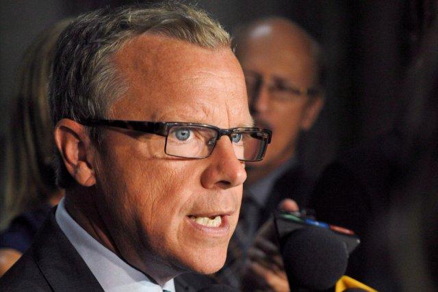 Le premier ministre de la Saskatchewan, Brad Wall.... (Photo Michael Bell, PC)