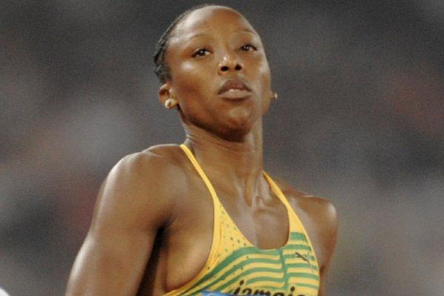 Sherone Simpson en 2008.... (Photo archives AFP)