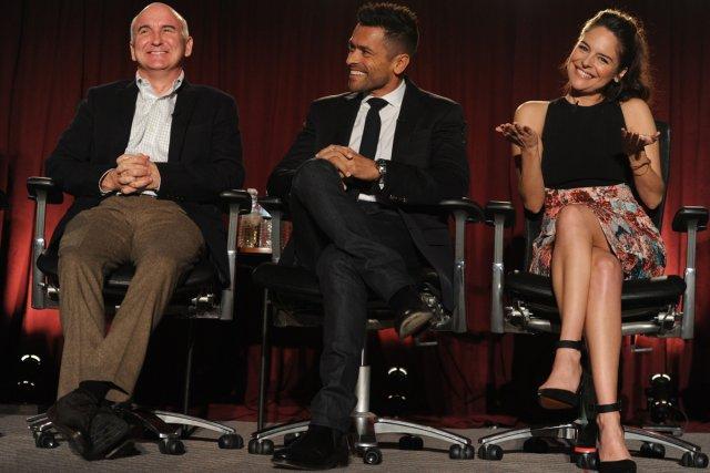 Matt Malloy, Mark Consuelos et Yara Martinez de... (Photo: AFP)