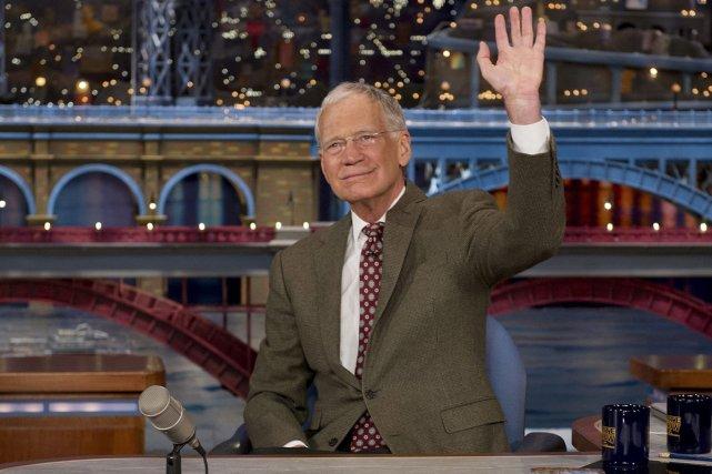 David Letterman a salué la foule en studio,... (Photo: AP)