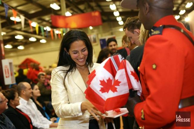 Une cérémonie de citoyenneté, à Halifax, en 2010.... (Photo Gouvernement du Canada)