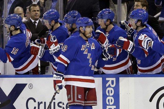Brad Richards a marqué deux buts en avantage numérique et les Rangers de New... (Photo: AP)