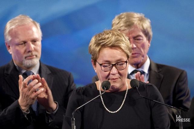 Pauline Marois au soir de la défaite.... (Photothèque La Presse)
