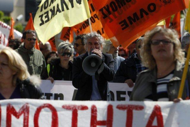 Manifestation à Thessaloniki.... (Photo AP)