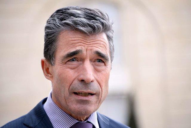 Le secrétaire général de l'OTANAnders Fogh Rasmussen... (PHOTO BERTRAND GUAY, AFP)