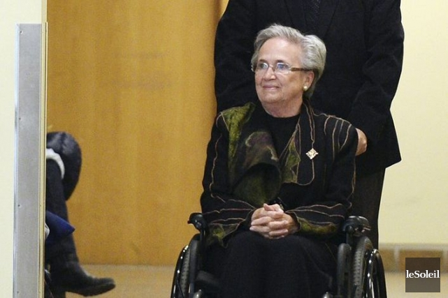 Lise Thibault au Palais de justice de Quebec,... (Photothèque Le Soleil, Erick Labbé)