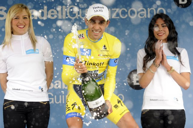 Alberto Contador... (Photo Rafa Rivas, AFP)