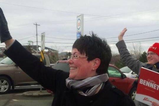 La femme d'affaires Cathy Bennett est sortie victorieuse... (Photo tirée de Facebook)