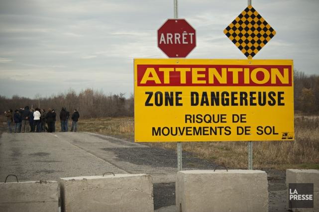 En mai 2010, une immense portion de terrain... (Photo David Boily, Archives La Presse)