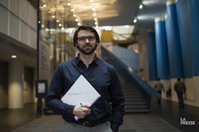 L'ingénieur Thomas Sychterz a créé le cahier effaçableWipebookdans... (PHOTO OLIVIER PONTBRIAND, LA PRESSE)