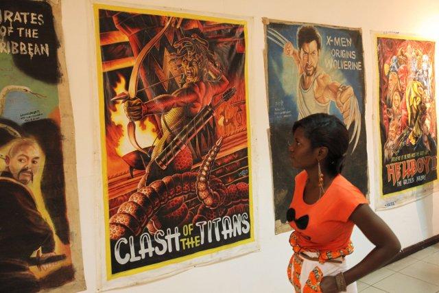 Oko Afutu sait exactement ce qui donne envie aux cinéphiles ghanéens de se ruer... (Photo: AFP)