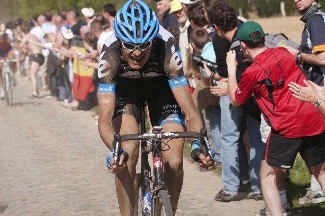 Le Belge Johan Vansummeren, vainqueur de Paris-Roubaix 2011.... (Photo AFP)