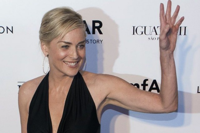 Lundi, le jean de Sharon Stone (notre photo)... (PHOTO ARCHIVES REUTERS)