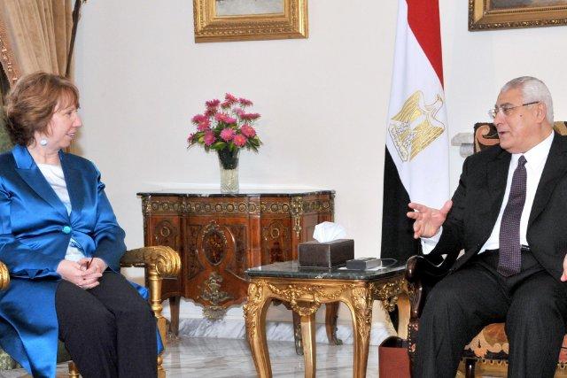 La chef de la diplomatie européenne Catherine Ashton,...