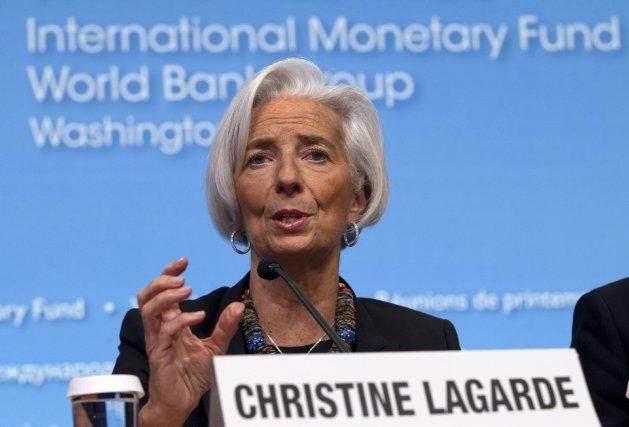 Christine Lagarde, directrice générale du FMI... (Photo Jose Luis Magana, AP)