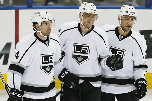 Justin Williams, Marian Gaborik et Alec Martinez.... (PHOTO USA TODAY)