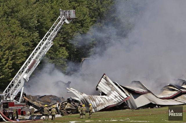Le 20 juin 2013,une explosiondans un entrepôt de... (PHOTO PATRICK SANFAÇON, LA PRESSE)