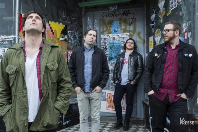 Les punk rockeurs montréalais Max Desharnais, Sébastien Godin,... (Photo: Édouard Plante-Fréchette, La Presse)