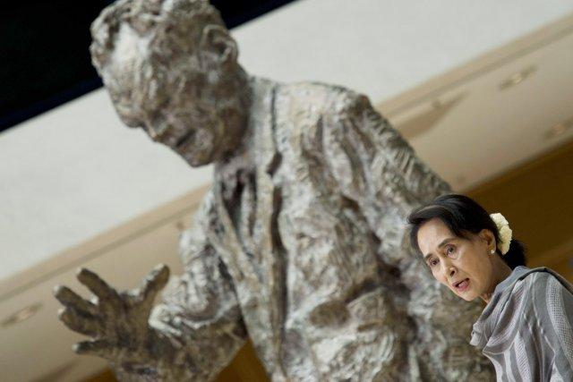 «La Birmanie n'est pas encore une démocratie», a... (PHOTO JOHN MACDOUGALL, AFP)