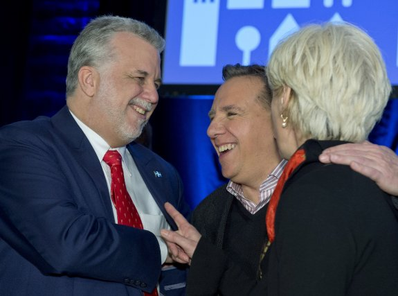 Les similitudes entre le PLQ et la CAQ... (Photo Jacques Boissinot, La Presse Canadienne)