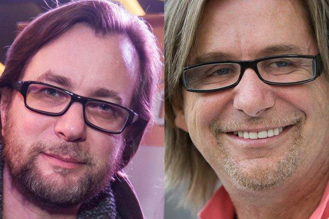 Le chanteur Luc De Larochellière et le docteur...