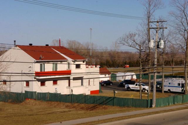 Le bunker de Trois-Rivières lors de l'opération SharQc,... (PHOTO ARCHIVES LA PRESSE CANADIENNE)