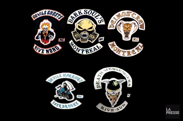 Voici un portrait de cinq groupes sympathisants des Hells Angels. (PHOTOMONTAGE LA PRESSE)