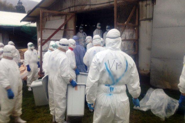 Des opérations de désinfection sont en cours, ainsi... (Photo JIJI PRESS, AFP)