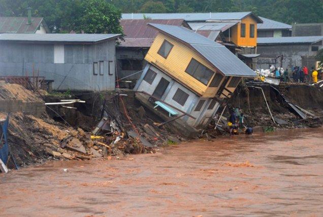 Les îles Salomon ont été frappées par des... (Photo AP)