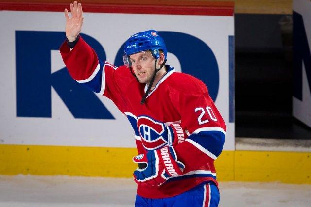 À Montréal, Thomas Vanek profite d'une vitrine sans... (Photo André Pichette, La Presse)