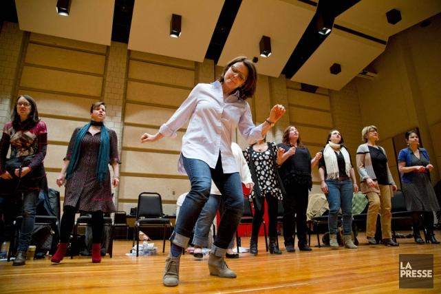 Grande répétition pour les belles-soeurs, qui fouleront bientôt... (Photo Alain Roberge, La Presse)
