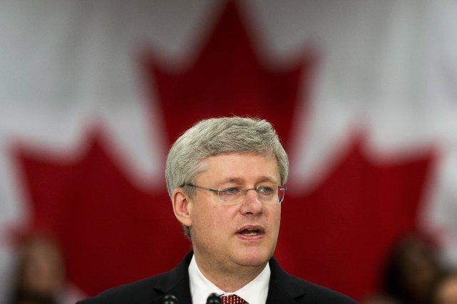 Le premier ministre du Canada, Stephen Harper... (Photo Nathan Denette, PC)