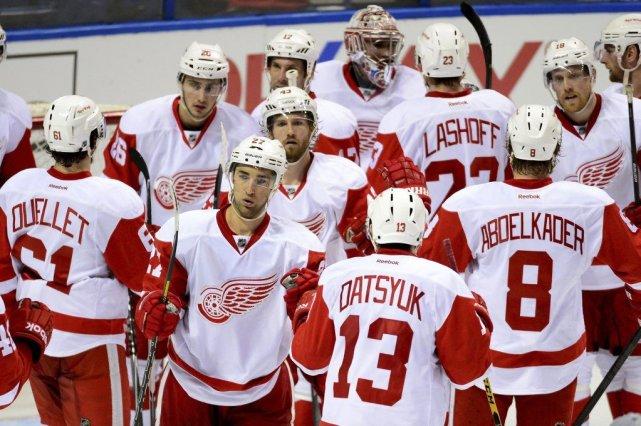 Les Red Wings affronteront les Bruins lors de... (PHOTO JASEN VINLOVE, USA TODAY)