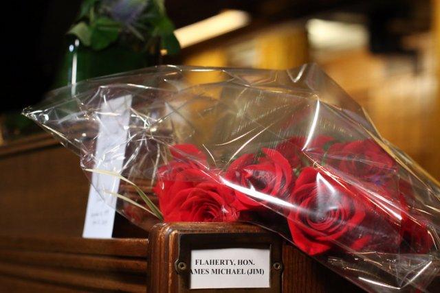 Les funérailles d'État de l'ancien ministre des Finances du Canada Jim Flaherty... (Photo: PC)