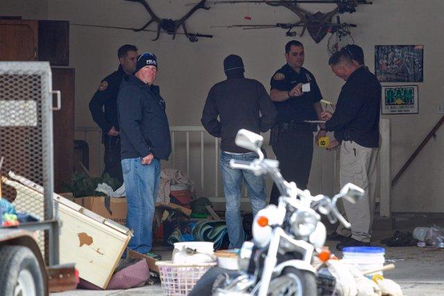Des policiers de la municipalité dePleasant Grove, dans... (Photo: AP)
