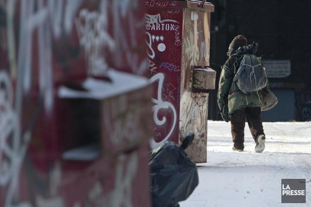 À Montréal, les nouveaux patients sans-abri qui doivent... (Photo: Robert Skinner, La Presse)