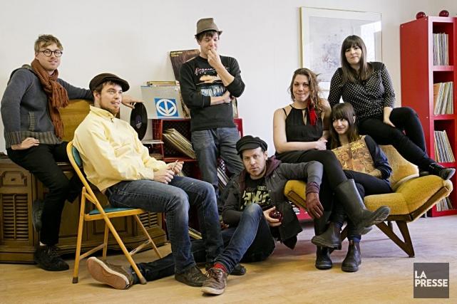 Sept des membres du «groupe à huit têtes»... (Photo: David Boily, La Presse)