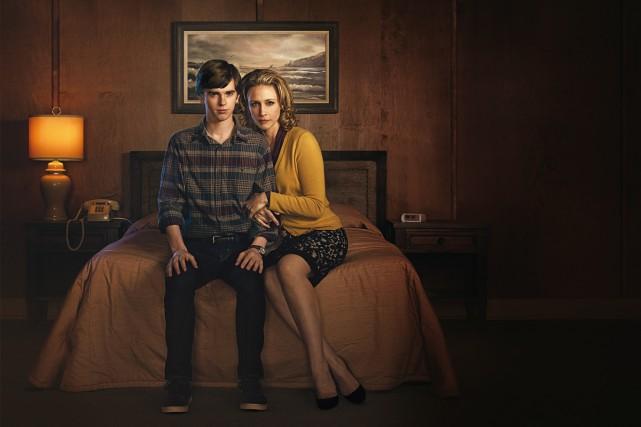 Freddie Highmore et Vera Farmiga dans Motel Bates.... (Fournie par AddikTV)