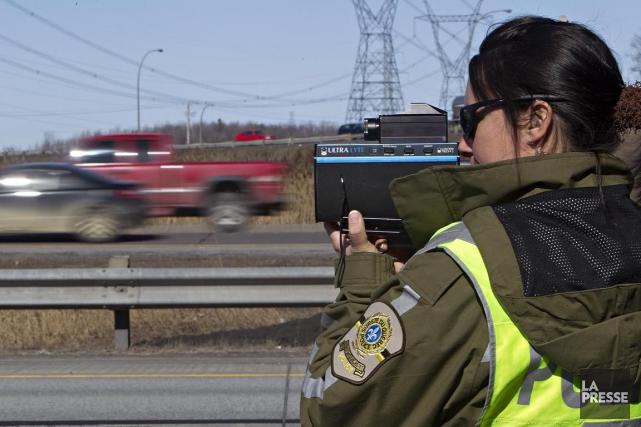 À quelques jours du début des vacances de la construction, la Sûreté du Québec... (Photo Patrick Sanfaçon, Archives La Presse)