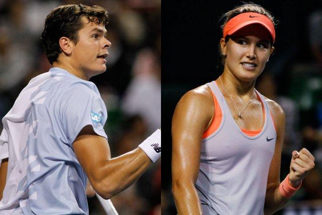 Milos Raonic et Eugénie Bouchard... (Photos Yuya Shino, archives Reuters)