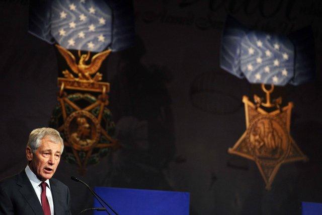 Le secrétaire américain à la Défense, Chuck Hagel,... (PHOTO JEWEL SAMAD, AFP)