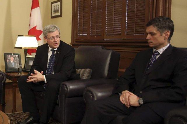 Stephen Harper a rencontré l'ambassadeur d'Ukraine au Canada... (Photo La Presse Canadienne)